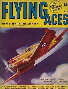 1941 Flying Aces May Pulp - Hitler's Luftwaffe; Dawn patrol; Sky Sabotage; AT-6
