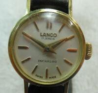 Lanco 17 Jewels Incabloc Swiss Made Watch 160-8LL