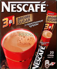 Nescafe Nestle Brown Sugar 3 in 1 Instant Coffee Mix Box of 20 Sticks x 16g WOW
