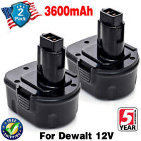 2x 3.6Ah 12V Battery For Dewalt DC9071 DE9072 DW9071 DW9072 Ni-MH Compact Tools