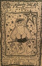 Mulberry Folk Art Primitive Stitchery Pattern Book - Have a Merry Christmas!