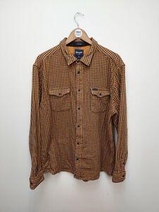 WRANGLER Heavy Cotton Overshirt - Plaid Checked Shirt - XXL - 2XL