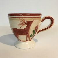 """Vietri Renna Reindeer Footed Coffee Mug Made in Italy Tea Cup Replacement 4"""""""
