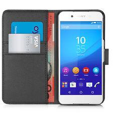 Orzly Leather Wallet Flip Case for Sony Xperia Z3+ / Z3 Plus / Z4 - Black