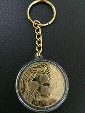 24k Gold Plated Ripple Keychain, XRP Key Rings Novelty Coin, UK Seller