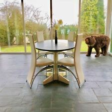 Reclaimed Slate Oval Dining Table with Handmade Pitch Pine Legs