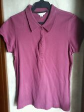 CALVIN KLEIN WOMEN'S PIQUE POLO-Magenta,size Medium