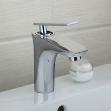 Bathroom Basin Vessel Faucet Single Handle Deck Mounted Mixer Taps In Chrome