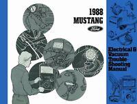 Bishko OEM Repair Maintenance Shop Manual Bound for Ford Mustang - Evtm 1988
