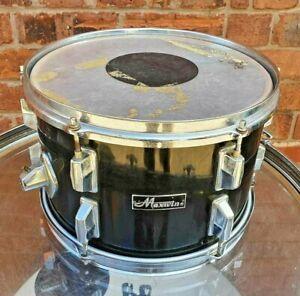 """Vintage Maxwin 12"""" Rack Tom Drum in Black"""