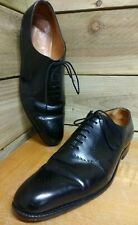 J M Weston One Cut Oxford with Perforations Size 10 Black Leather Shoes RRP £750