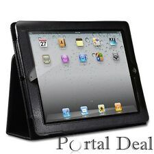 SMART BLACK LEATHER COVER CASE FOR APPLE IPAD 2 3G WIFI