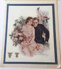 1917 Regiment Of Midshipmen Christmas Card +Envelope Howard Chandler Christy Art