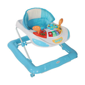 Lorelli Baby Walker Foldable HighBack Seat Adjustable Toddler Activity Toys Tray