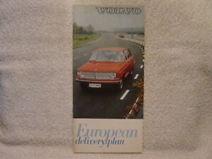 VOLVO 1966 booklet for European delivery plan   Rk 2515.11.66.80,000