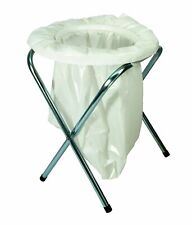 PORTABLE FOLDING TOILET SEAT CAMPING Loo Field Potty Commode + 15 Free Bags