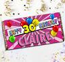Personalised Pink Blast Happy Birthday Chocolate Bar N125 Any Age Gift