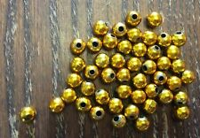 Vintage Japan Mardi Gras Intense Theatrical Gold Coated Round Lucite Bead Lot