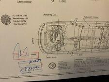Limitierter ARTprint Opel Calibra 99 Stück Konstruktionszeichnung