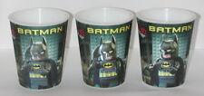 Lot of 3 Lego Movie batman Lenticular Cups McDonalds