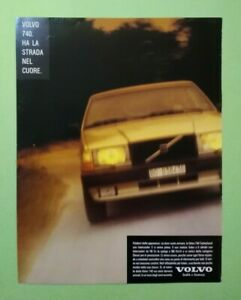 Pubblicita'Advertising Originale Vintage VOLVO 740 auto turbodiesel 1986 (A25)