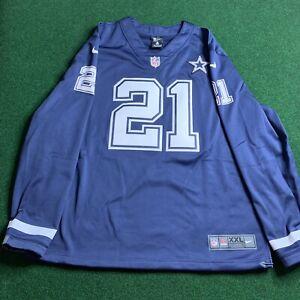 Dallas Cowboys Ezekiel Elliott #21 Nike Therma Jersey 10003530 Men Size 2XL