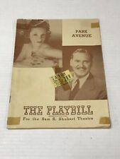 The Playbill Sam S. Shubert Theater 1946 Vintage Antique Magazine Booklet