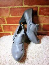 "White Mountain Women'S Saki GRAY Boot Shoes 7.5 W SIDE BUCKLE 3"" HEEL 2391"