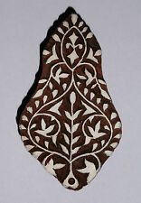 Floral Shaped 10cm Indian Hand Carved Wooden Printing Block (FL100)
