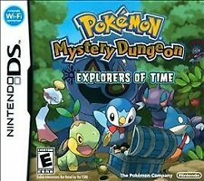 Pokémon Mystery Dungeon: Explorers of Time Nintendo DS, 2008 Complete