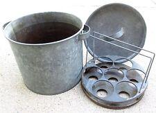 Canner Vintage Water Bath Steamer Cooker Antique Large 27 Quart Galvanized Pot