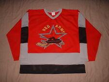 Red Army Soviet URSS Red Hattem Men's Size Large Hockey Jersey