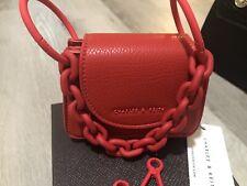 ❤️New Charles & Keith Croc-Effect Chunky Chain Handle Mini Bag Red