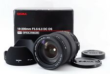 [Mint] Sigma 18-200mm f/3.5-6.3 DC OS AF Zoom Lens for Canon from Japan 657380