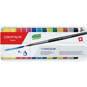 Caran d'Ache Fancolor Gouache - Assortment of 15 Colour Tablets