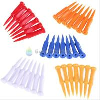 35pcs Golf Tees wedge tees Plastic Castle Tee Height Control Step Down 68mm