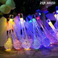 30 LED Decor Outdoor Solar Power String Light Waterproof Garden Colorful Lamp US