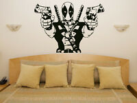 Deadpool Marvel Superhero Action Hero Children's Decal Wall Art Sticker Picture