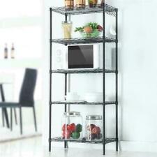 5-Tier Wire Shelving Unit Adjustable Metal Shelf Rack Kitchen Storage Organizer