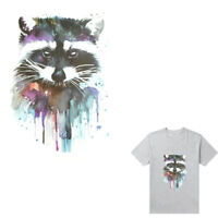 Raccoon Iron on Stickers Washable Heat Transfer Patches For T-shirt Applique US