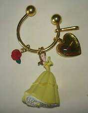 Disney Japan Beauty & The Beast BELLE Dangle Charm Figure Keychain Ring Princess