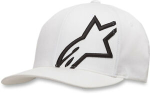 Alpinestars CORP SHIFT 2 Curve-bill Flex-Fit Hat/Cap (White/Black) Choose Size