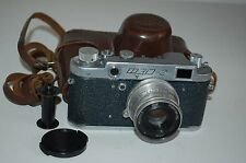 Fed-2 (Type B4) VINTAGE 1958 Soviet Rangefinder Camera & Case. Serviced. 368829