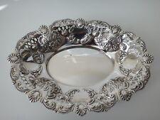More details for antique silver basket sheff 1898 3.9 tr oz mid size 8.25