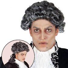 Grey Court Gothic Vampire Regency Baroque Halloween Fancy Dress Wig