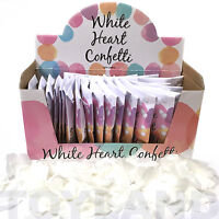 24 PACKS THROW WEDDING HEART CONFETTI PAPER TISSUE TABLE DECORATION DISPLAY BOX