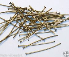 250 pcs of Antiqued Brass headpin 2 inch long - 22 gauge