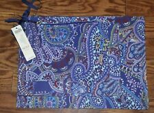 NWT $49.50 CHICO'S Set of 3 Paisley Print Zipper Travel/Makeup Bags Pouch Pack