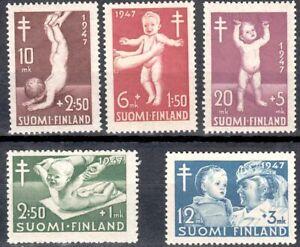 Nurse After War Baby Health Care Child Nursing Finland 1947 Mint MNH Stamps