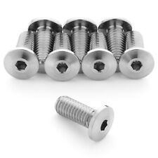 8-Pack Terske Ultra-Low Profile 1.2g Titanium Water Bottle Cage Bolts M5x12mm